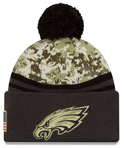 (New Era 2016 Men's Salute to Service Knit Hat (One Size, Philadelphia Eagles))
