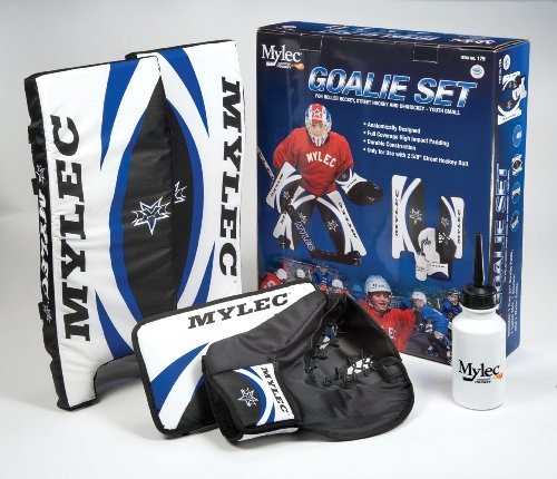 Mylec Goalie Set, Blue/White/Black, 21-Inch (Youth Hockey Equipment Ice)