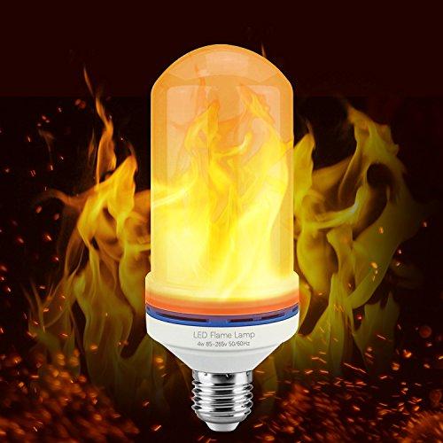 (Flame Bulb LED Light Bulb E26/ E27 2300K Flickering Flame Light Bulb Simulated Decorative Lamp for Dinner/ Home /Bar/ Festival Decoration by)