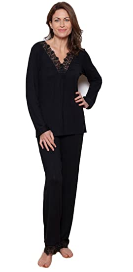 3176a4fcf Nora Rose from Cyberjammies Black Modal Long Sleeve Pyjama Set (10)   Amazon.co.uk  Clothing