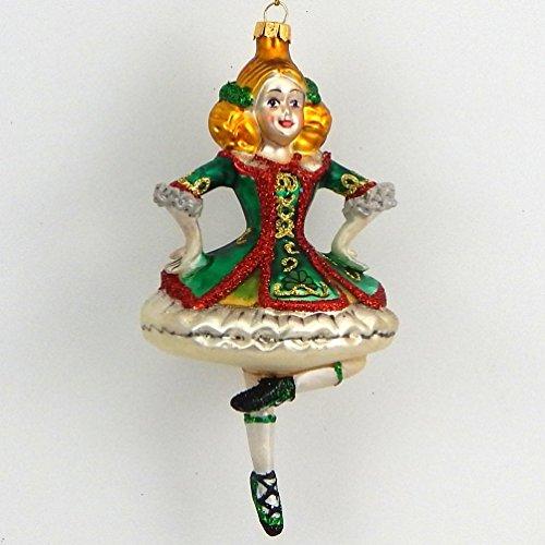Glass Irish Dancer - Christmas Tree Ornament