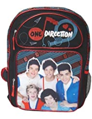 One Direction 1D 16 Black/Red/Blue Glitter Large Backpack