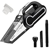 Cordless Vacuum, 12V 120W Portable Cordless Vacuum Cleaner, Wet & Dry Hand-held Car Vacuum for Home or Car with 4KPa Suction, Pet Hair Eraser, LED Light by Dr. Auto