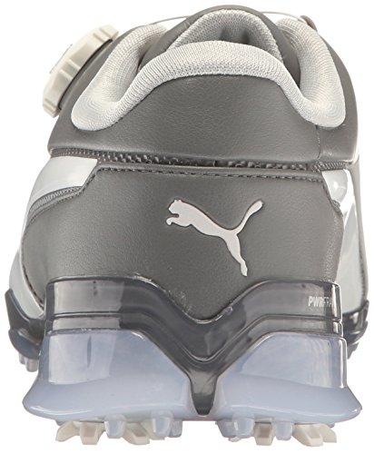 PUMA Mens Titantour Ignite Disc Golf-Shoes Gray Violet-puma White-steel Gray 5GEQ9