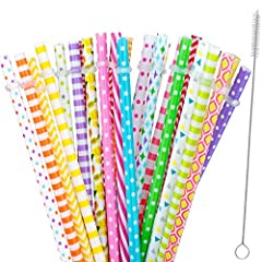 Feature: Reusable straws, BPA free eco friendly, striped, 30 for DIY making your own mason jar cup tumblers, christmas gift It can help prevent teeth stains and cavities,make cold drinks more enjoyable, and can even help you feel an alcohol b...