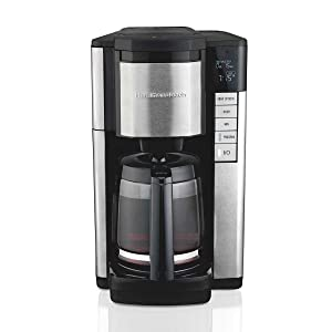 Hamilton Beach 12 Cup Programmable Display Front Access Coffee Maker w/Filters
