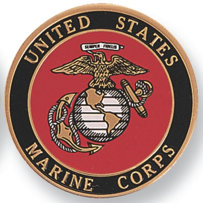 4 Inch Litho Printed United States Marine Corps. Medallion Insert, Pack of 4 by Awards and Gifts R Us
