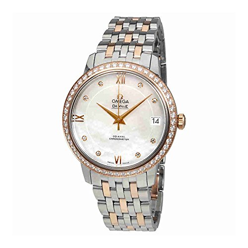 Omega De Ville Mother of Pearl Diamond Dial Ladies Watch 424.25.33.20.55.002