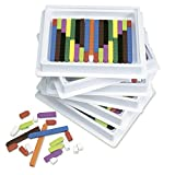 ETA hand2mind Plastic Connecting Cuisenaire Rods 6 Tray Set