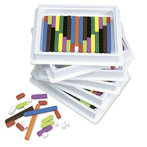 Connecting Cuisenaire Rods - ETA hand2mind Plastic Connecting Cuisenaire Rods 6 Tray Set