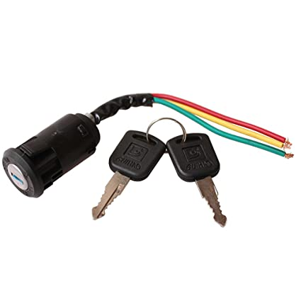 amazon com: goofit 3 wire ignition switch key for 50cc 70cc 90cc 110cc  150cc 200cc 250cc go kart dune buggy buggies atv & dirt bike parts:  automotive