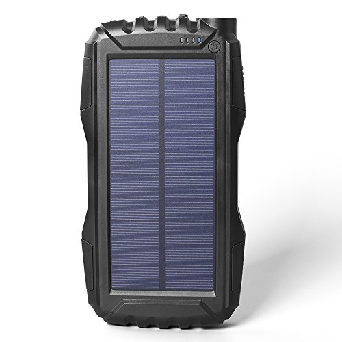 Soluser 25000mAh Portale Solar power Bank Shockproof/Dustproof 2.1A USB outcomes Battery Bank, Outdoor Solar Charger smartphone External Battery Chargers through tough LED light-weight for iPad iPhone Android cellphones