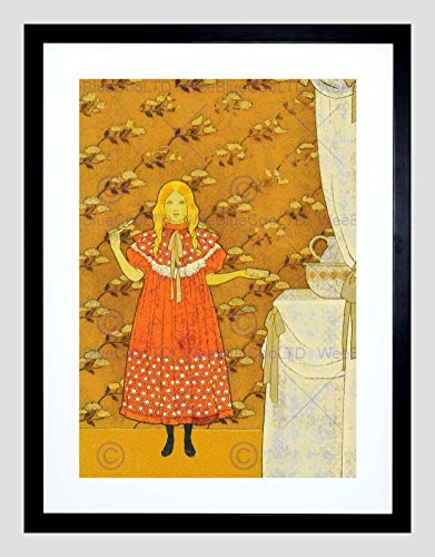 (The Art Stop Girl SOAP Dress Floral Wallpaper Nouveau Clean Teeth Framed Print B12X12488)