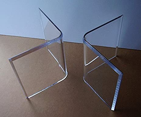 Marvelous Acrylic U0026quot;Vu0027su0026quot; Or Boomerang COFFEE Cocktail TABLE BASES (2) Lucite  Contemporary