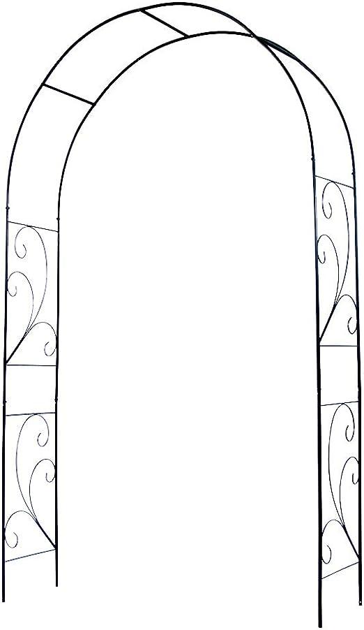 Arcos para Jardin, De Metal, Arco De Planta Trepadora De Flores De Árbol, Decoración De Fiesta De Bodas En Patio Al Aire Libre Fácil De Montar Negro L135 * W37 * H220cm: