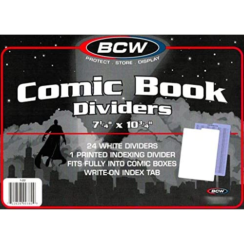 100 Comic Book Dividers For Short Or Long Comic Book Storage Boxes supplier