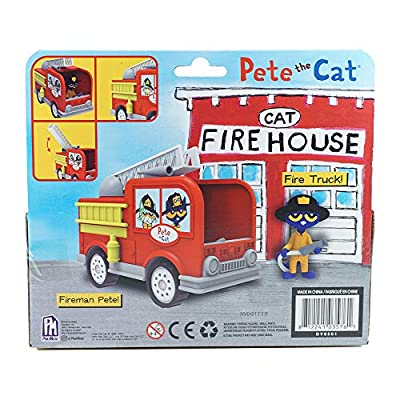 Pete the Cat– Firefighter Pete with Fire Truck: Toys & Games