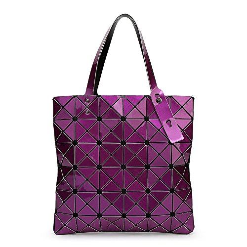 Main Géométrique Bandoulière Sac à Diamond Purple Sac Variété Sac Pliable à à Bandoulière wFqfwa4