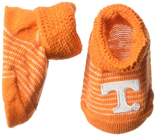 Tennessee Volunteers Ncaa Stripes - Two Feet Ahead NCAA Tennessee Volunteers Infant Stripe Gift Box Booties, New Born, Light Orange/White