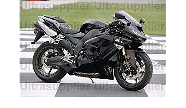 Amazon.com: Gloss Black Injection Fairing ABS or 2006-2007 ...