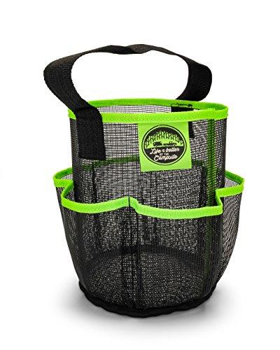 Camco - Organizador de ducha de malla con bolsillos y asa de transporte, se seca rápidamente, perfecto para dormitorios,...