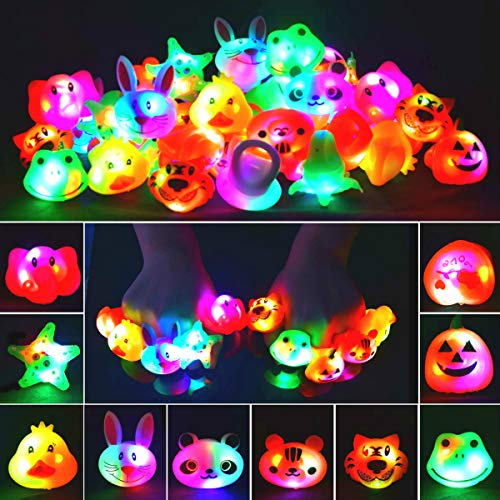 LED Light Up Animal Rings