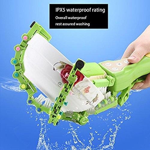 Makaor Handheld Automatic Dish Scrubber Brush Antibacterial Kitchen Dishwasher Brush Kitchen Cleaning Tool Automatic Dish Scrubber Brush (Green, Size:41.8cm x 11.5cm x 7cm) by Makaor (Image #1)