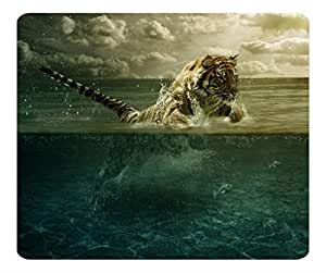 Tiger Playing In Water Customized Non-Slip Rubber Mousepad Gaming Mouse Pad by runtopwell