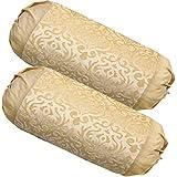 Belive-Me Velvet Bolster Covers Set of 2 (Beige) Size (30X60 cm)