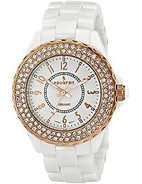 Women's PS4880WR Analog Display Swiss Quartz White Watch