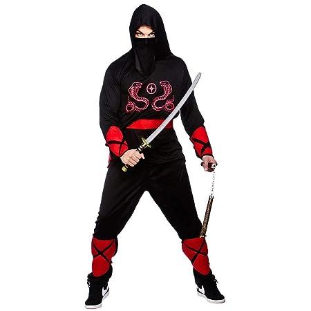 Wicked - Disfraz de guerrero ninja para hombre, talla XL (EM ...