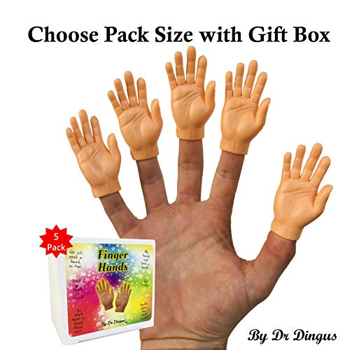 - Finger Hands (Five Right Hand Set) Finger Puppets in Gift Box - Choose Pair, 5 Left, 5 Right, 10 Packs
