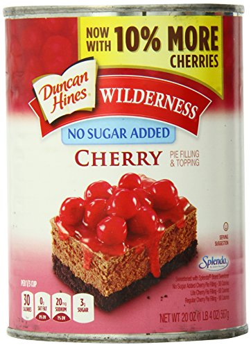 Wilderness No Sugar Added Pie Filling & Topping, Cherry, 20 Ounce (Pack of 12) (Best Canned Cherry Pie Filling)