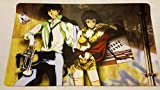 "Cowboy Bebop TCG playmat, gamemat 24"" wide 14"" tall for trading card game smooth cloth surface rubber base"