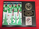 Eagles 46 Defense Collectors Clock Plaque w/8x10 Photo and Card White Brown Simmons