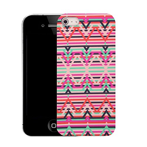 Mobile Case Mate IPhone 4 clip on Silicone Coque couverture case cover Pare-chocs + STYLET - inherited pattern (SILICON)