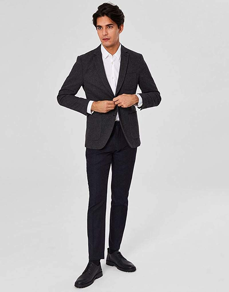 Selected Homme Rich Slim Blazer in Anthracite
