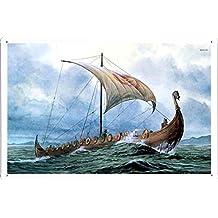Abstract Sign - #17967 Viking Ship Metal Tin Poster