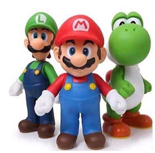 3pcs/lot Luigi Mario Action Figures Doll Toys 13cm (Mario Bros Costumes Diy)
