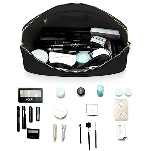 96f1335ce783 Amazon.com  Large Cosmetic Makeup Bag Pouch Clutch Travel Case Organizer  Storage Bag for Women s Accessories Toiletry Beauty and Skincare