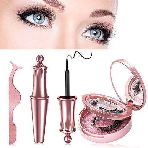 Magnetische Wimpern, Magnetischer Eyeliner Set,Mit Wasserdichtem Gelfreiem Magnetische Eyeliner und Wiederverwendbare 3D Magnet Wimpern,Mach Dich Charmanter