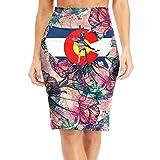 R8e5 Cloth Colorado Wrestling Women Office Fit High Waist Mini Slim Pencil Skirt