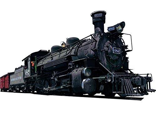 (Locomotive Wall Decal Realistic Steam Train Sticker Kids Room Wall Decor VWAQ-PAS14 (8