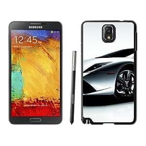 NEW Unique Custom Designed Samsung Galaxy Note 3 N900A N900V N900P N900T Phone Case With Lamborghini Aventador Silver_Black Phone Case