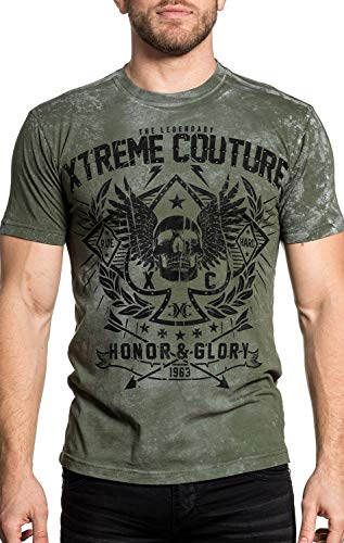 (Xtreme Couture The Legend Short Sleeve Graphic Fashion UFC T-shirt By Affliction XL)