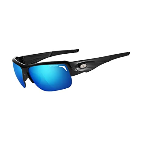 2ff7f08803 Tifosi Elder Sunglasses Gloss Black Clarion Blue Ac Red Clear One Size   Amazon.in  Sports