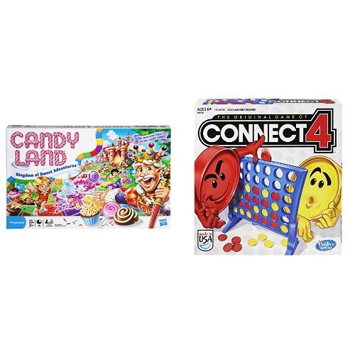 Candy Land - The Kingdom of Sweets Board Game and Connect 4 Game Bundle -