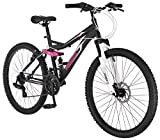 "Mongoose Bash 26"" Wheel Womens Bicycle, Matte Black, 16"" Frame Size /One Size"