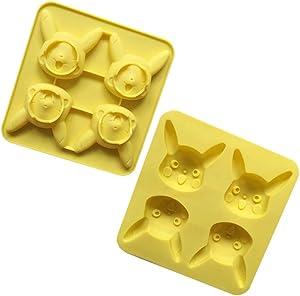 JUZIPI Pikachu Shape Ice/Cake Mold Homemade Cake Popsicle Set DIY Pop Mold BPA Free