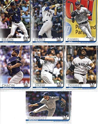 - 2019 Topps Series 2 Baseball Milwaukee Brewers Team Set of 11 Cards: Jeremy Jeffress(#362), Ben Gamel(#506), Corey Knebel(#554), Ryan Braun(#614), Hernan Perez(#617), Christian Yelich/Orlando Arcia(#625), Freddy Peralta(#627), Jhoulys Chacin(#642), Travis Shaw(#676), Brandon Woodruff(#687), Eric Thames(#695)
